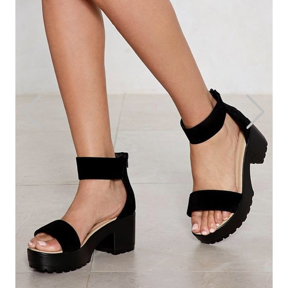 Black Platform Sandals From Nasty Gal